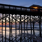 Long fishing pier in Folly Beach, ouside of Charleston, SC