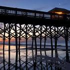 Long fishing pier in Folly Beach, ouside of Charleston, SC