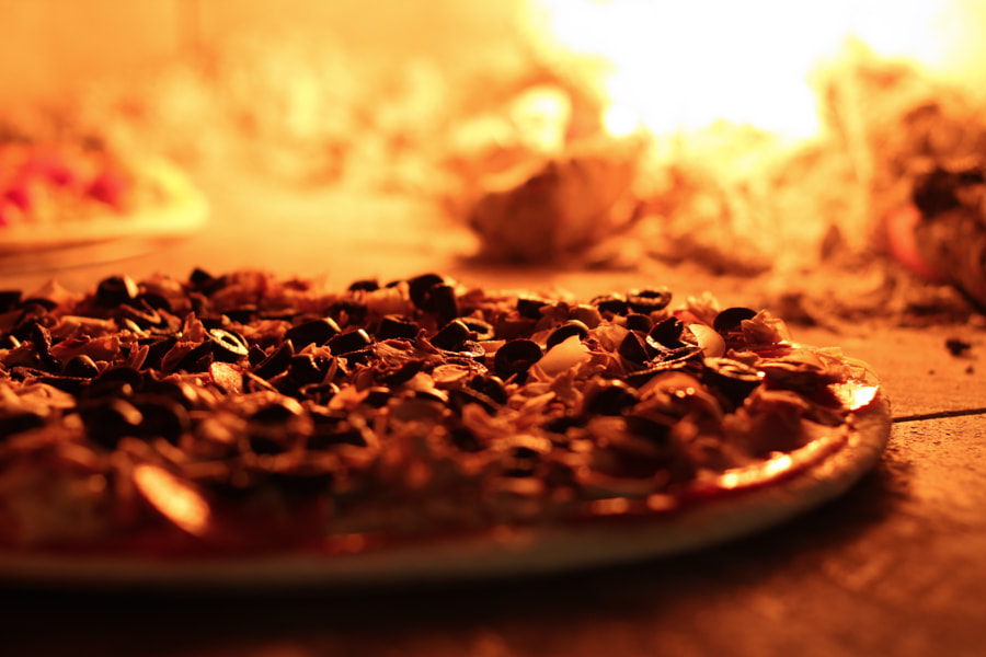Black olives - Wood-fired Pizza by Luis Tello on 500px.com