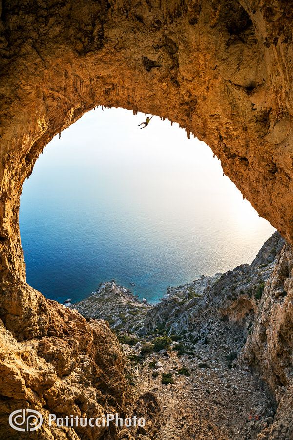 The Crystal Cave, Telendos, Kalymnos, Greece. by Dan Patitucci
