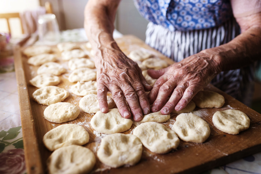 Senior woman baking by Jozef Polc on 500px.com