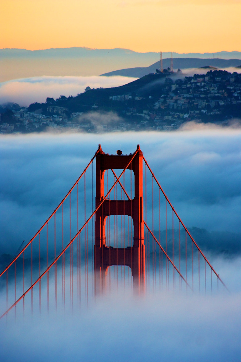 Photograph San Francisco Golden Gate bridge and fog by Tony Mignot on 500px