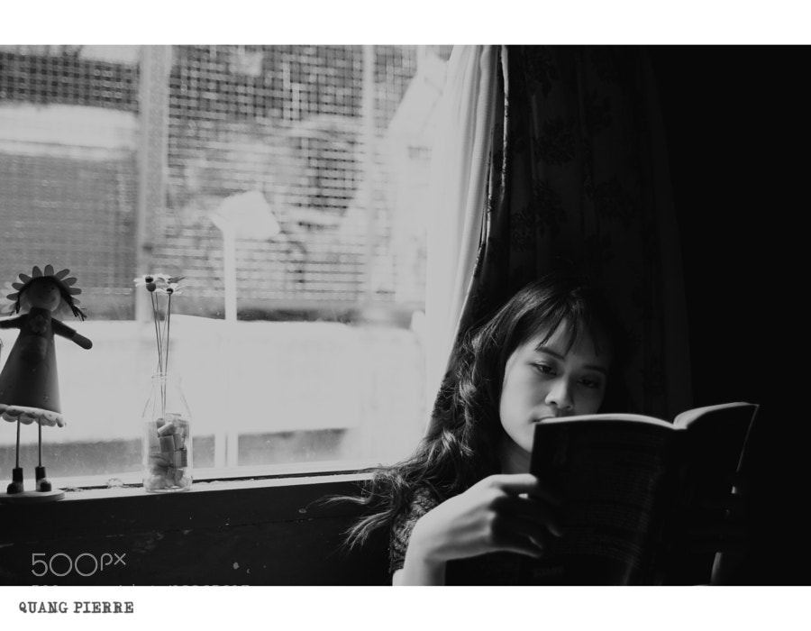 Photograph I , She & Her Book  by Quang Pierre on 500px