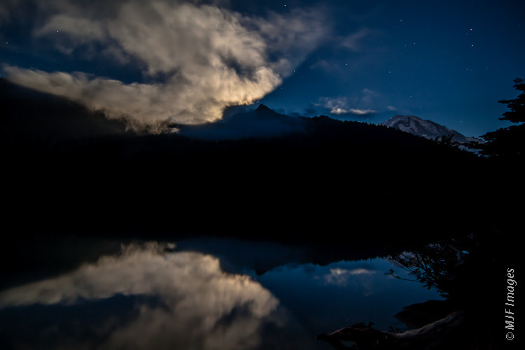 Photograph Mowich Lake Moonlight by Michael Flaherty on 500px