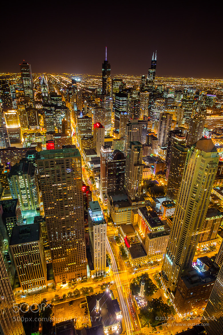 Photograph Chicago Night by Putt Sakdhnagool on 500px