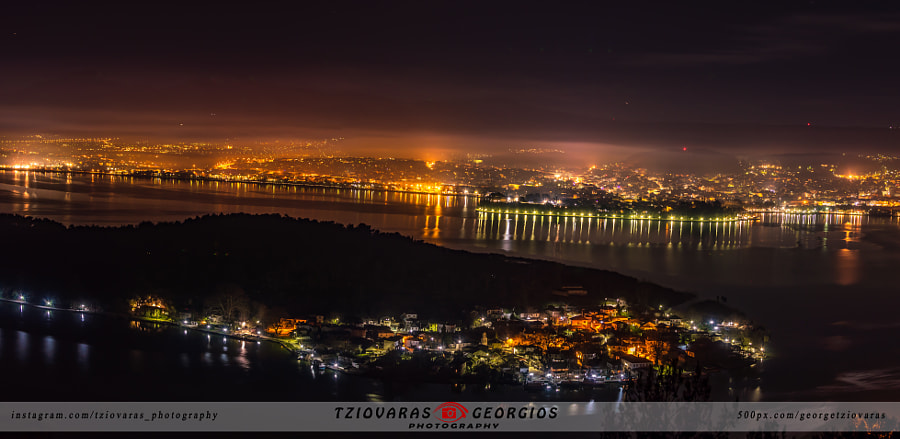 Ioannina panorama, citylights! by Georgios Tziovaras on 500px.com
