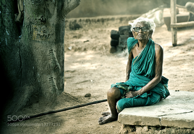 Photograph indian old lady by Nasser  AlOthman on 500px