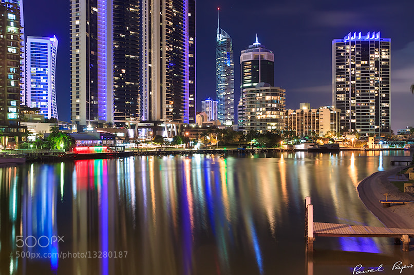 Photograph Surfers Paradise at night by Pawel Papis on 500px