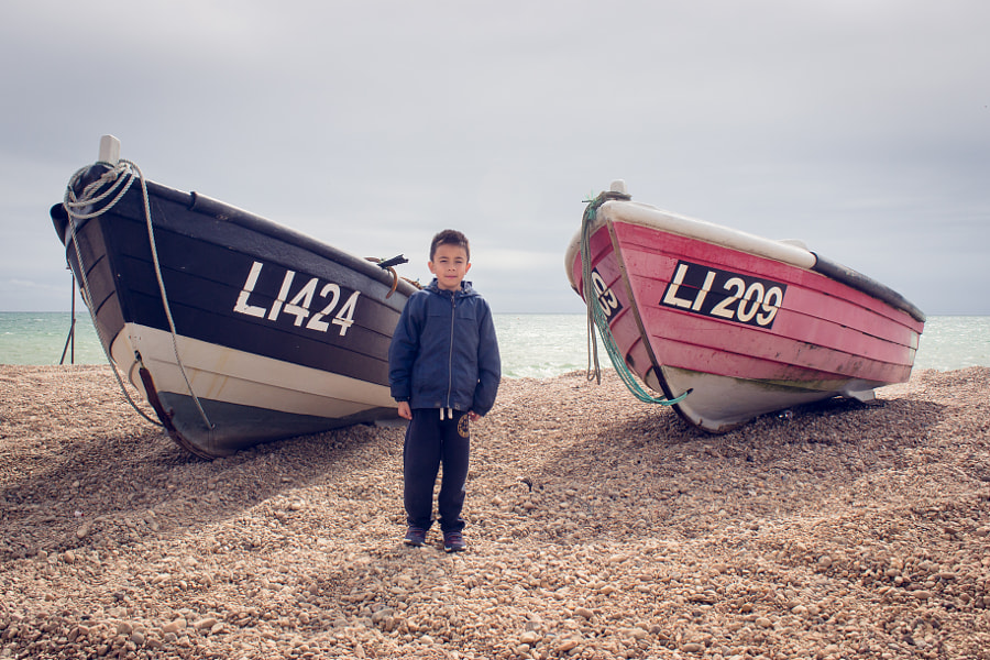 Boy and Boats