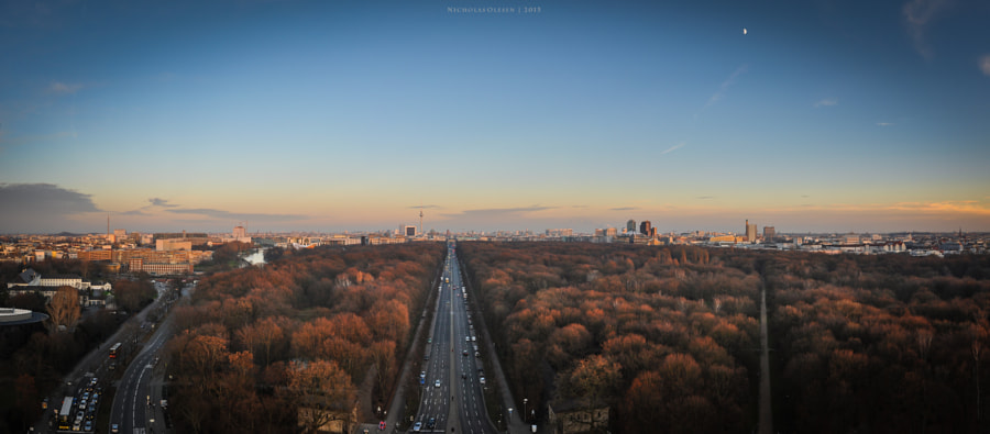 Berlin - Panorama from the Siegessäule by Nicholas Olesen on 500px.com