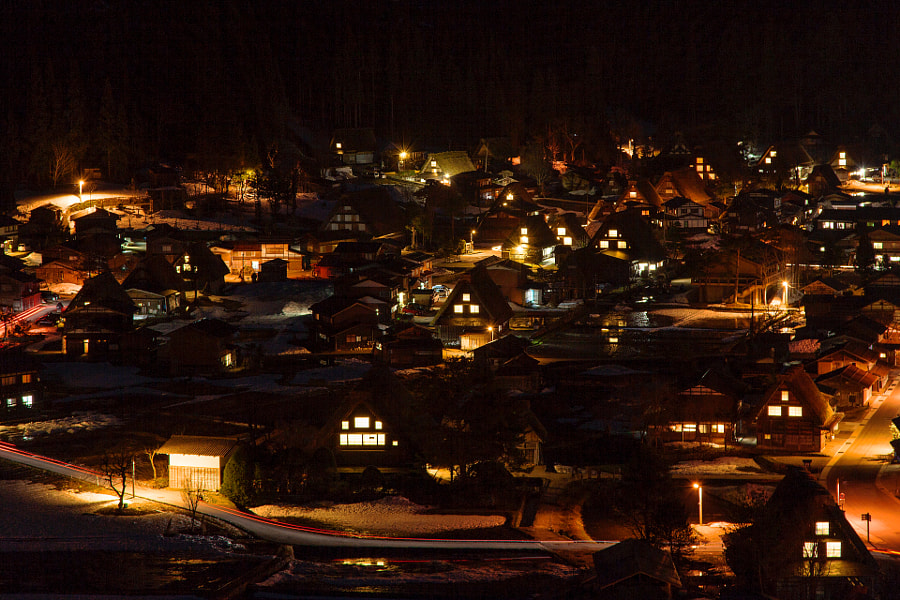 Shirakawa village is listed as sites of the world heritage.