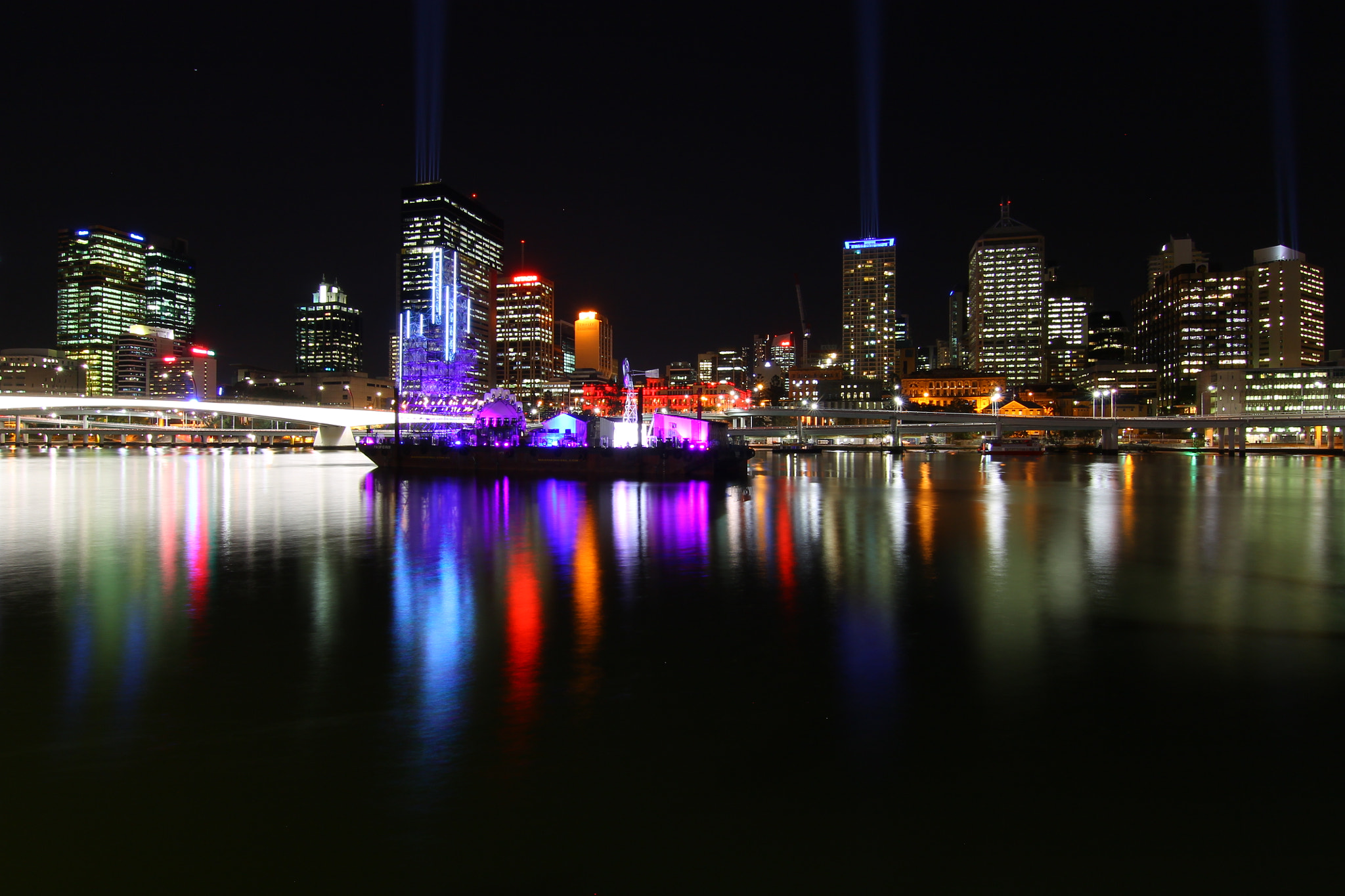 """Photograph """"Night view in Brisbane ⅱ"""" by Kim, K H on 500px"""
