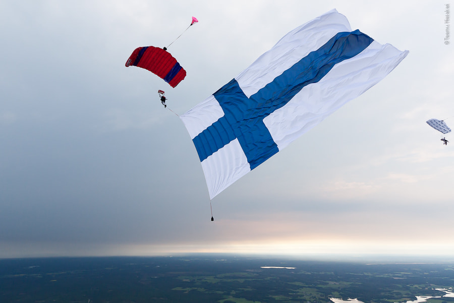 Photograph Flag Jump by Teemu Hietakari on 500px