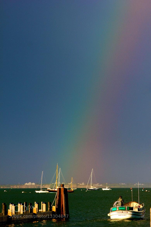 Photograph Rainbow into Nantucket Harbor by Chris Sleeper on 500px