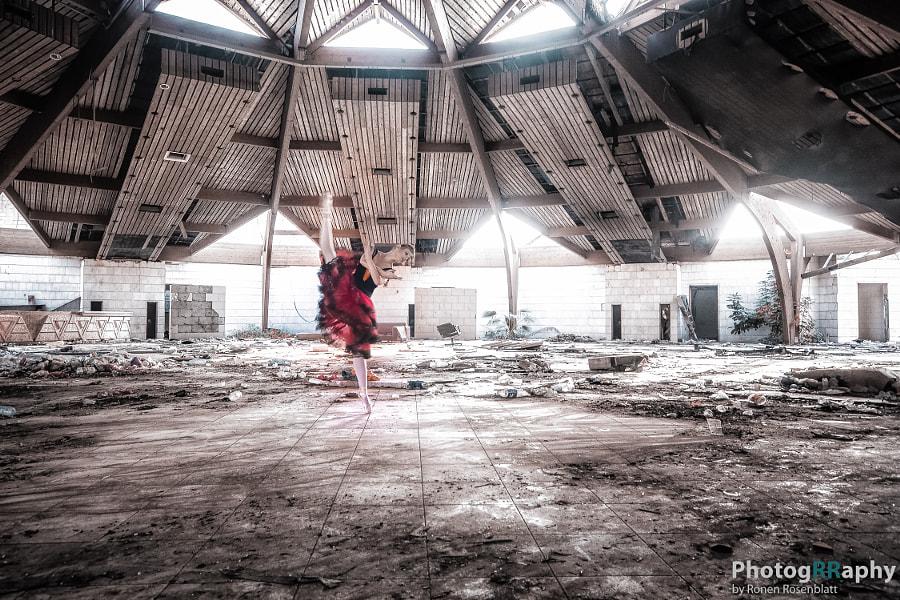 Dancer on tiptoes