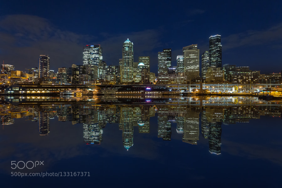 Seattle skyline reflections