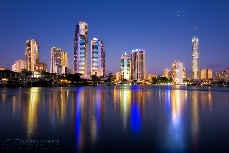 Photograph Crescent Moon City by Drew Hopper on 500px