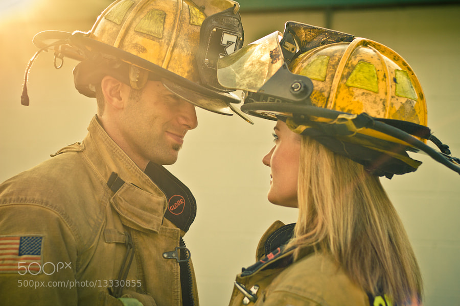 Photograph Firefighter Love by Andrew Studebaker on 500px