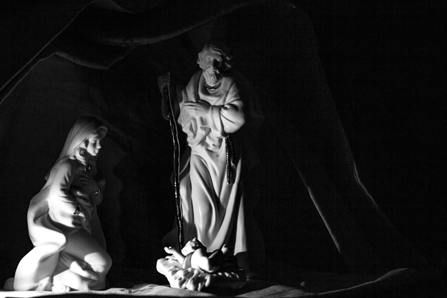 B&W Nativity by Jeff Carter on 500px.com