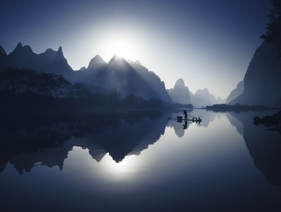 Fishing to Xing Ping Village by fabrizio massetti on 500px.com