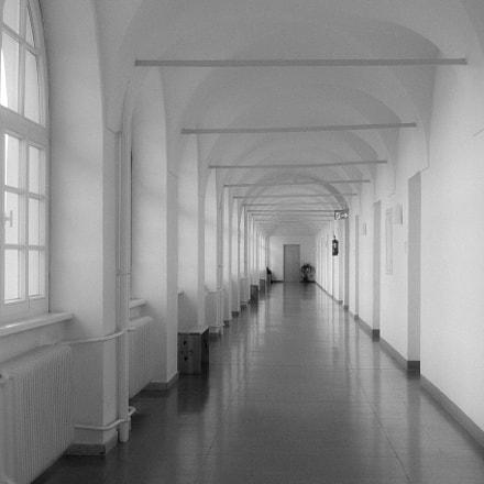 Monastery hallway