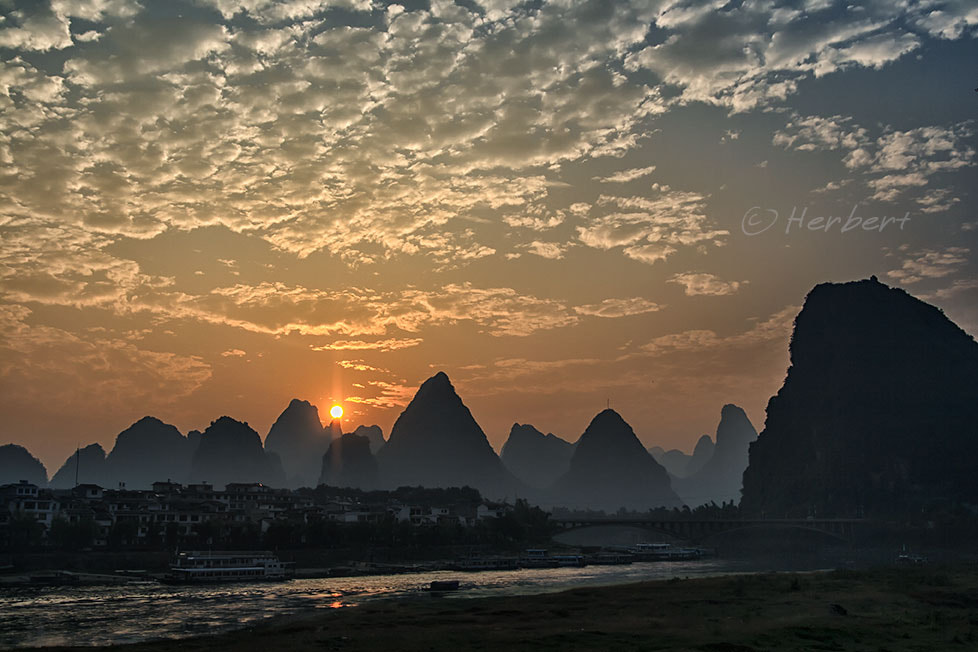 Photograph Yangshuo sunset by Herbert Wong on 500px