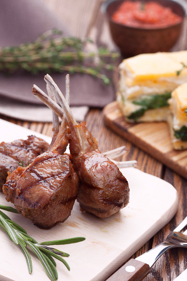 "Photograph Rack of lamb with potatoes ""graten"". by Aleksandr Slyadnev on 500px"