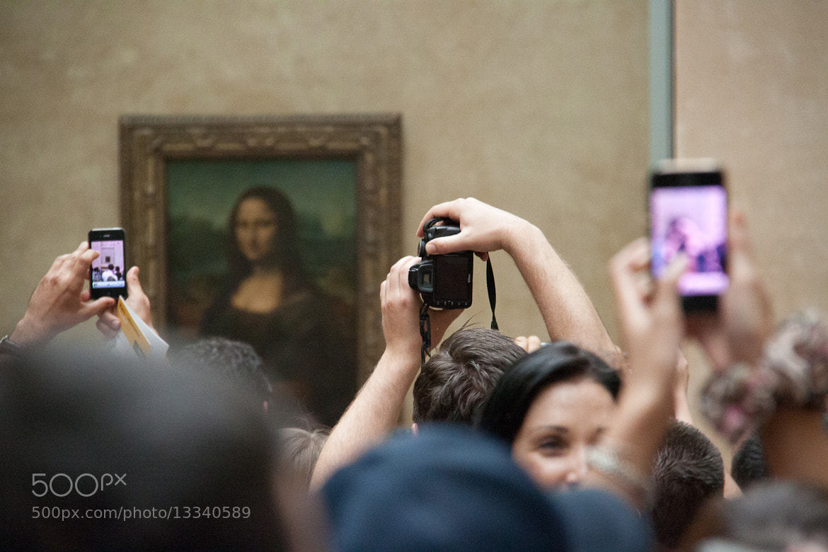 Photograph Visiting the Mona Lisa, Tourist Style by Pieter Rottiers on 500px