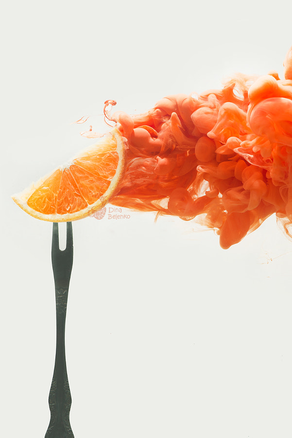 Disintegrated orange by Dina Belenko on 500px.com