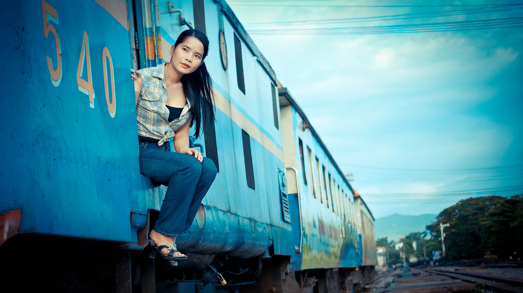 Photograph Sai in train station by lionpink on 500px