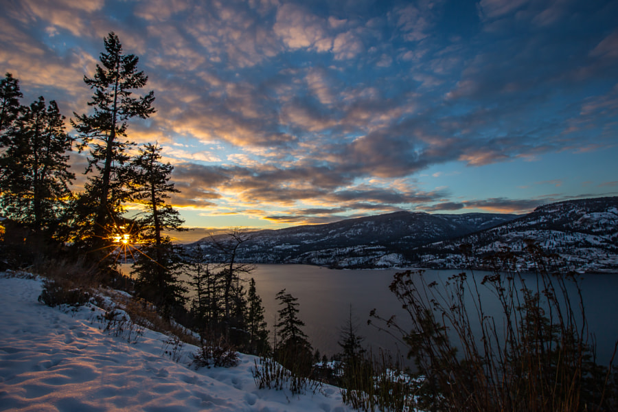 Christmas Sunset in Kelowna by John Entwistle on 500px.com