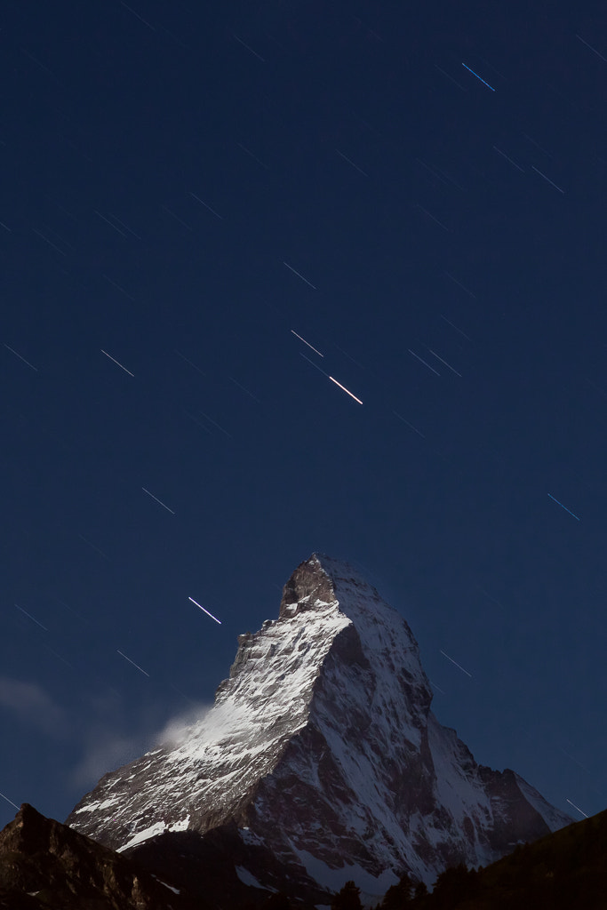 Photograph Night passing the Matterhorn by by Christopher Mozzocchi on 500px