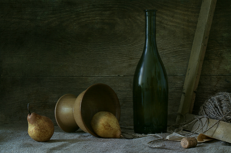 Photograph  Bottle and pears by Elena Kolesneva on 500px