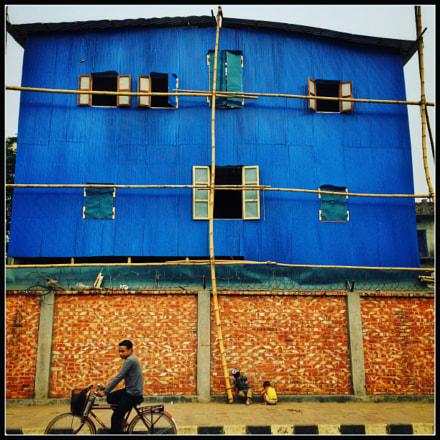 Developing side of Dhaka.