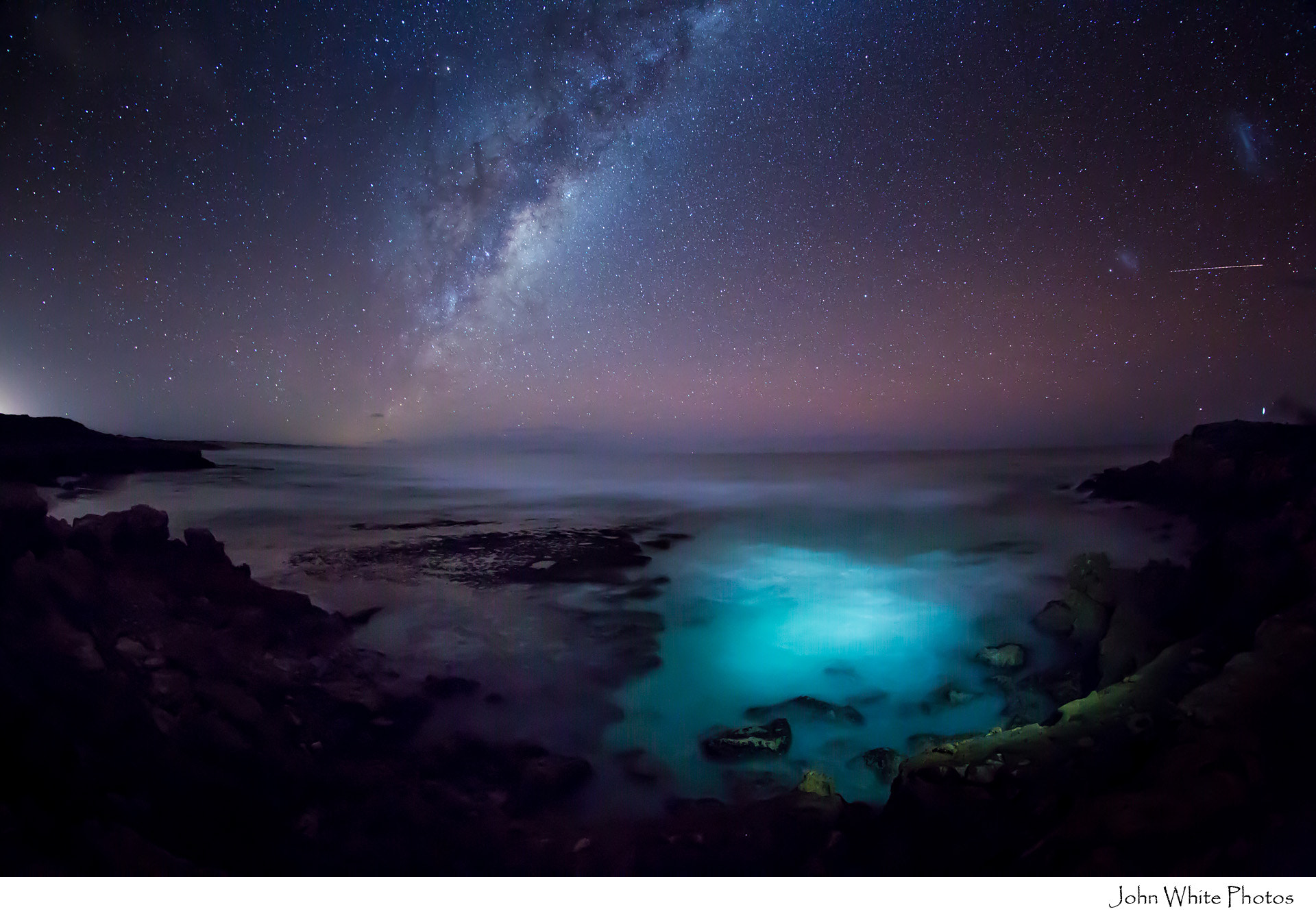 Photograph Millky Way over Southern Ocean by John White on 500px