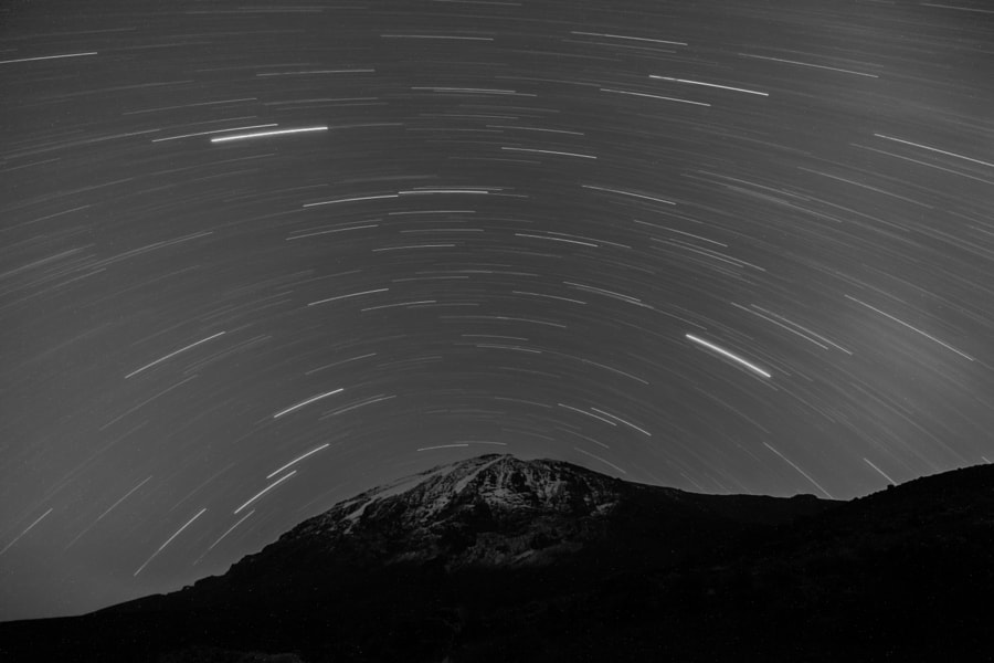 Startrails Over Kilimanjaro by Dror Bekerman on 500px.com