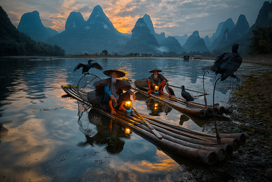 Sunset at xingping by enrico barletta on 500px.com