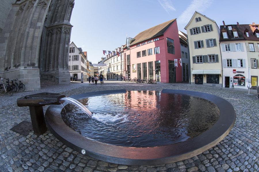 Drinking fountain in Munster Platz