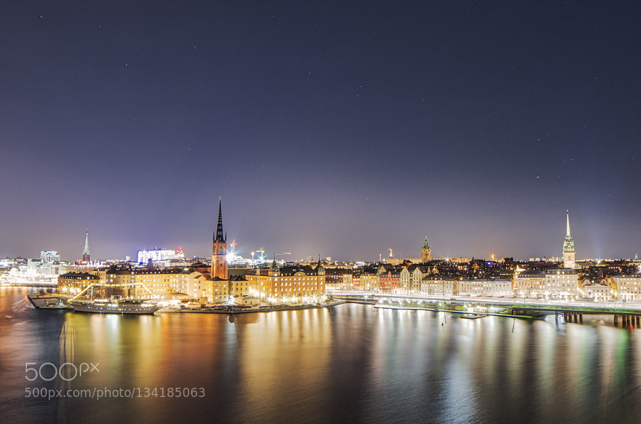 Stockholm after dark