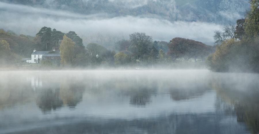 Strandshag Bay in the mist