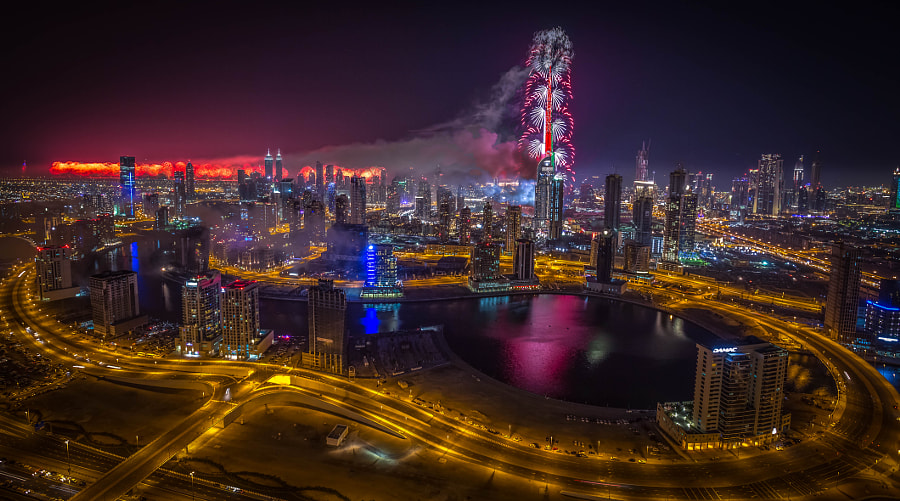 Happy new year Dubai by khalid jamal on 500px.com