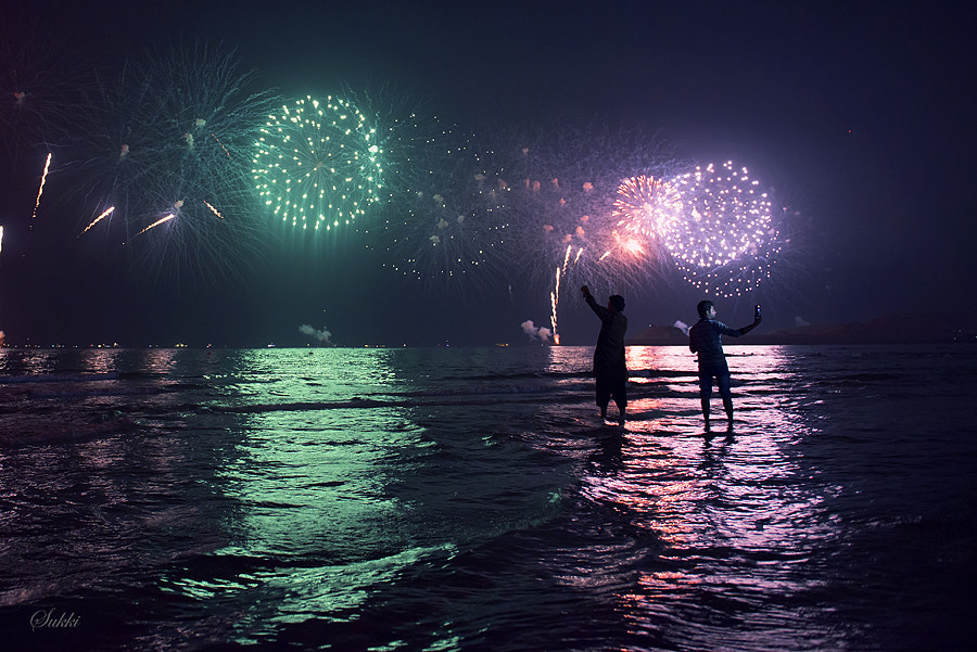 Selfie with Fireworks by Mohammed Sukki on 500px.com