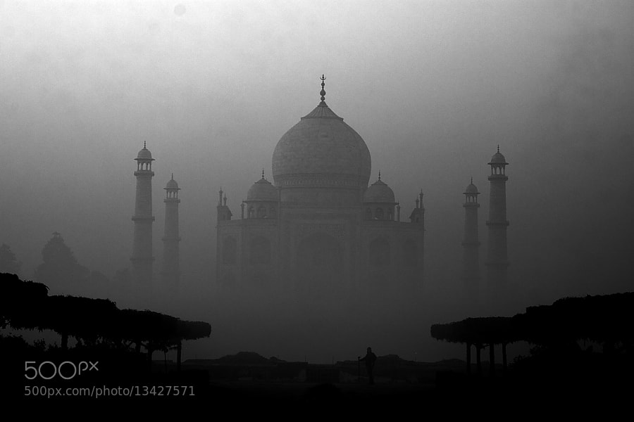 Photograph Taj Mahal Misty morning... by Saadi Kawkji on 500px