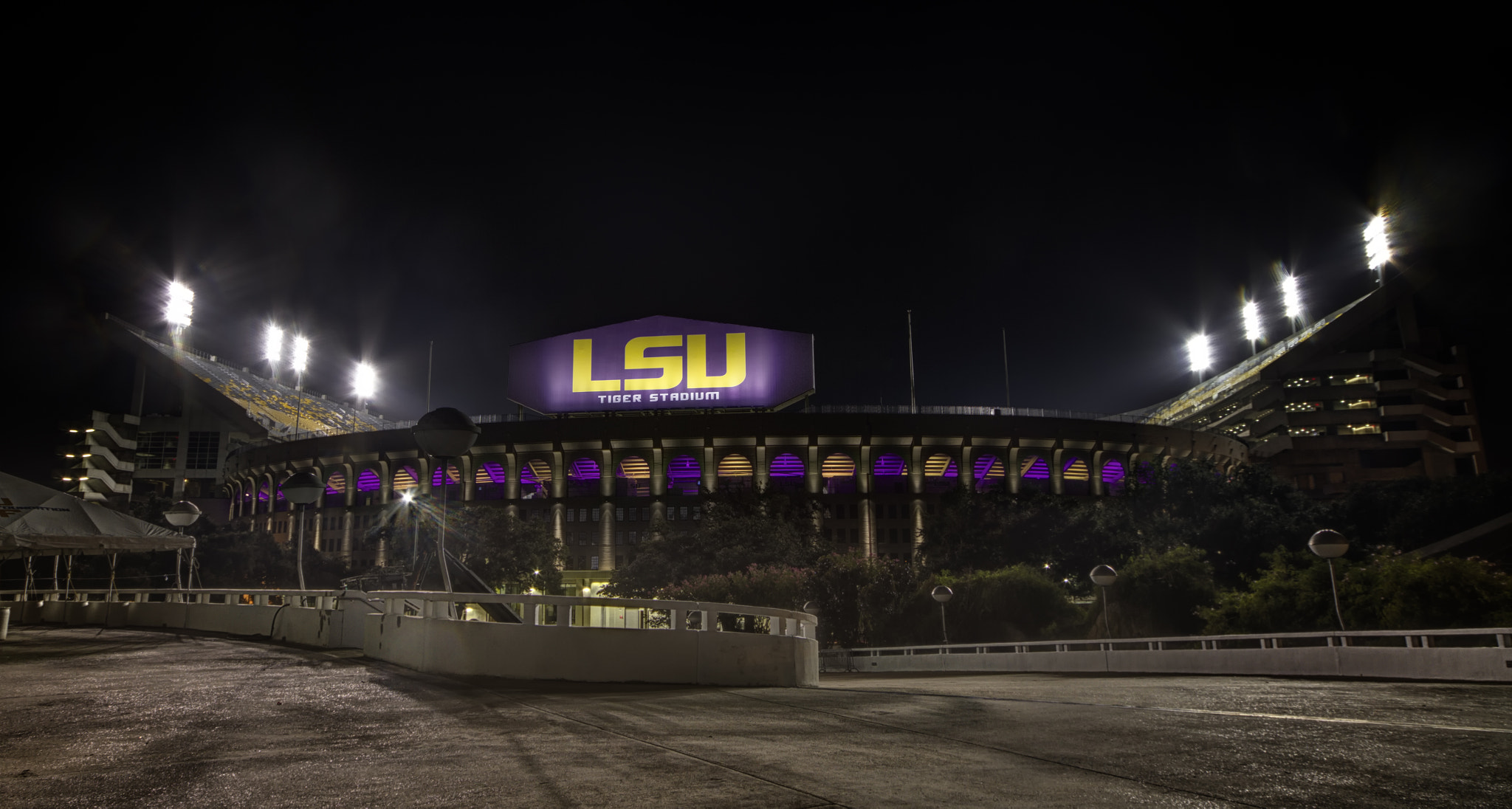 Photograph Tiger Stadium lit up by Darrell Miller on 500px