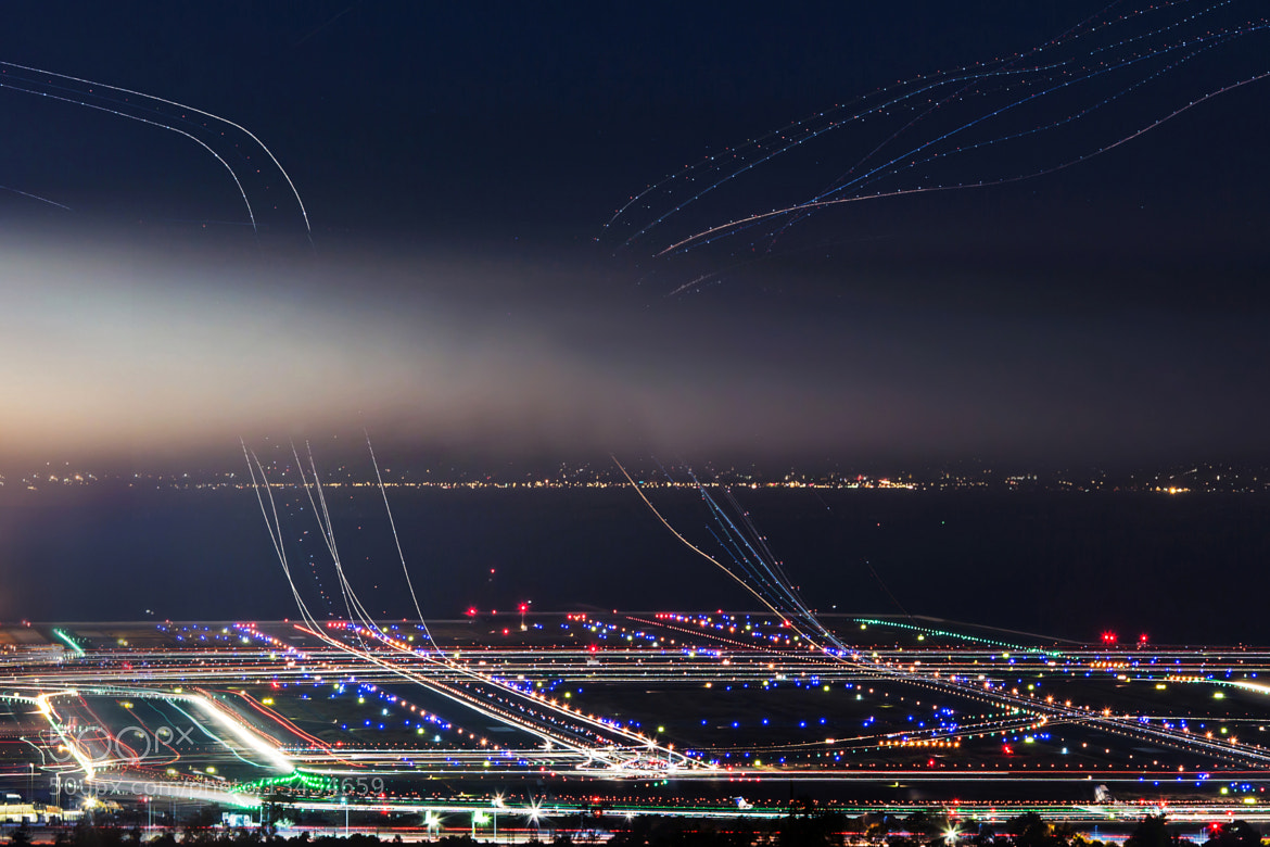 Photograph SFO : Busy Airplanes at night by KP Tripathi on 500px