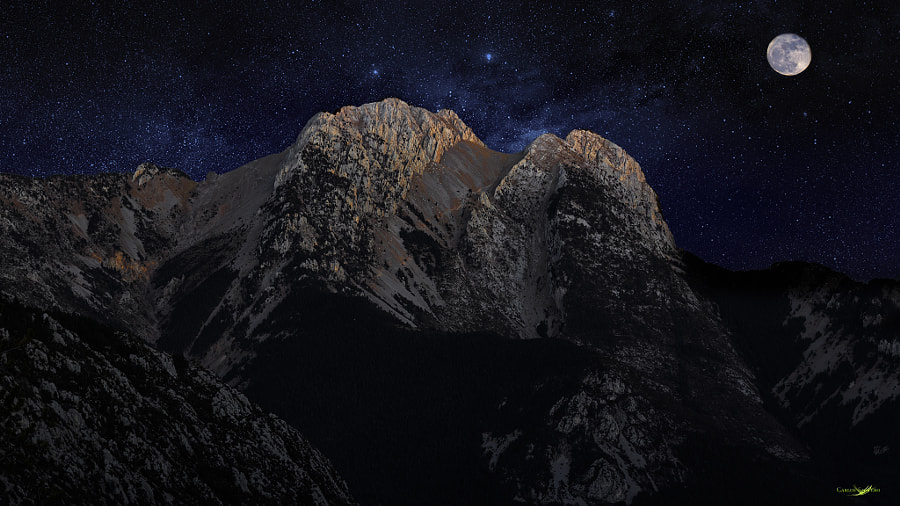 Pedraforca by Night by Carlos Santero on 500px.com