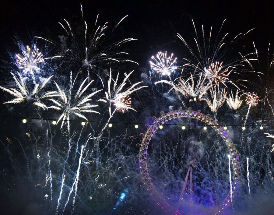 London New Year Fireworks by George Herbert on 500px.com