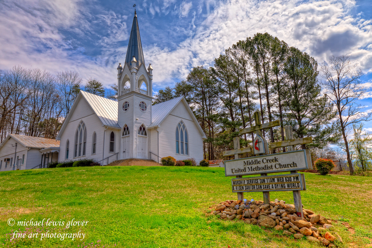 Photograph Middle Creek United Methodist Church by Michael Glover on 500px