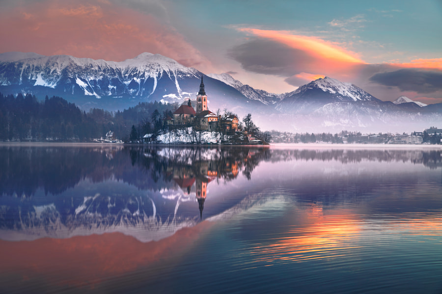 Sunrise over Bled by ?lhan Eroglu on 500px.com