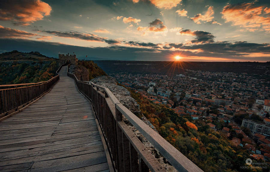 November sunset at Ovech Fortress, Bulgaria by Nadya Dzhevelekova on 500px.com